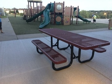 Our new wheelchair accessible picnic table!