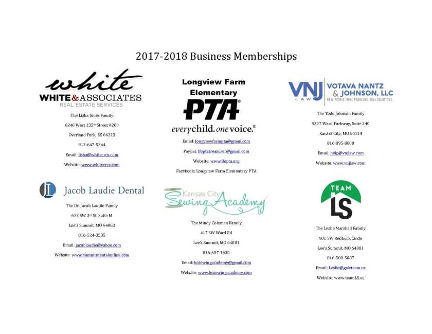 PTA Business Memberships for Directory_1_pe