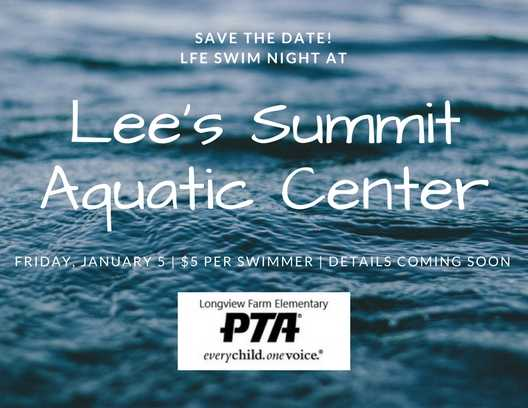 save the date aquatic center night jan 2018