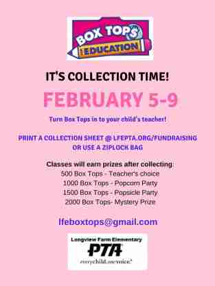 Flyer - February 2018 box top Collection
