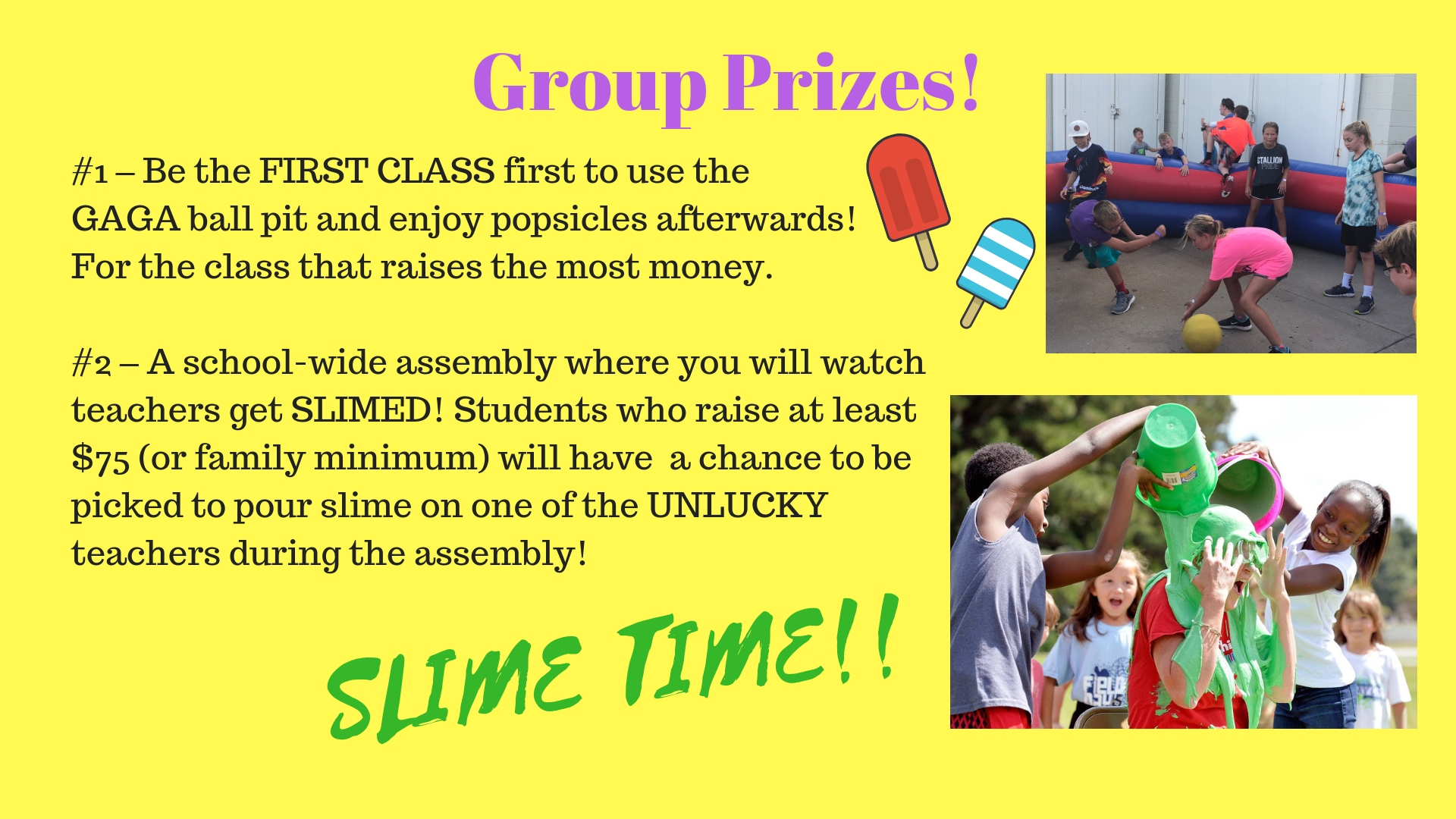 Group Prizes!