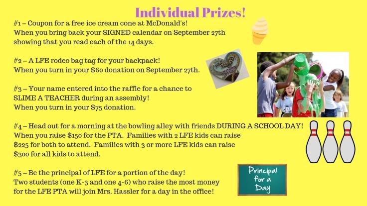 Individual Prizes!