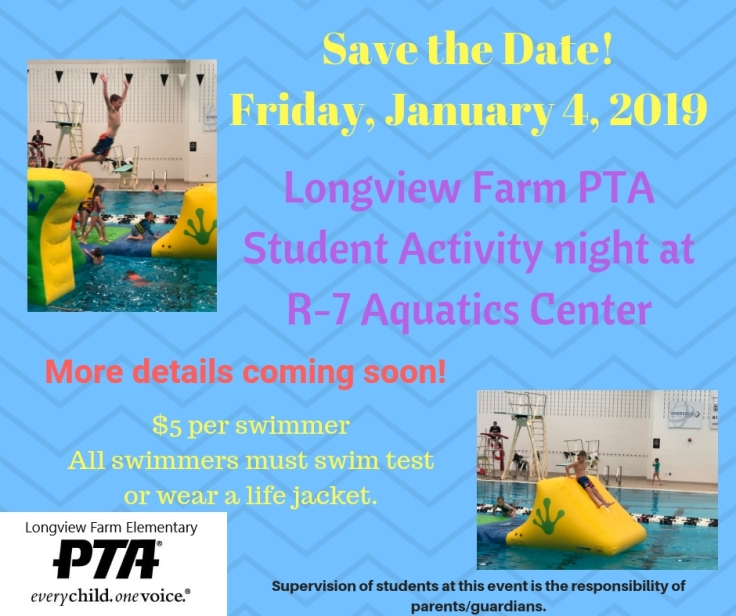 Save the Date!Friday, January 4, 2019