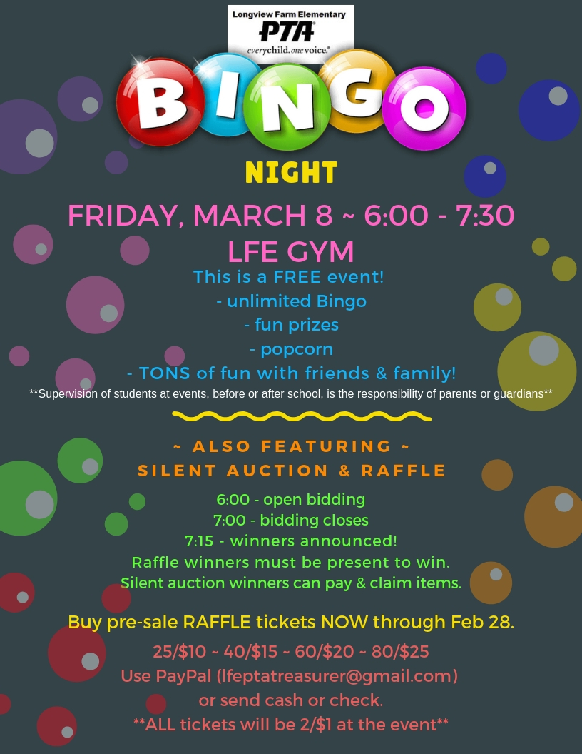 LFE Bingo Night 2019 - FB post